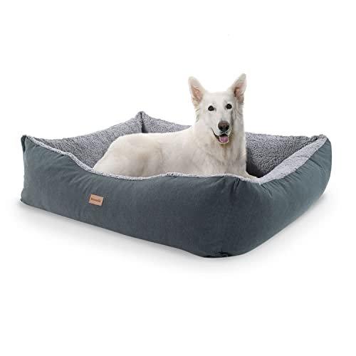 """brunolie """"Emma"""" großes Hundebett mit Kissen und kuscheligem Plüsch"""