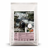 daily choice grainfree | 15 kg | Trockenfutter für alle Hunderassen | Lachs mit Kartoffeln und Erbsen | getreidefrei | für besonders Sensible Hunde