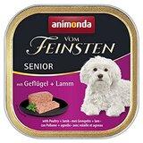 animonda Vom Feinsten Senior Nassfutter für ältere Hunde, ab 7 Jahren, mit Geflügel und Lamm, 22er Pack (22 x 150 g)