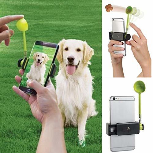 Teaio Hund Interaktives Spielzeug für Foto, Launcher Feeder Geräte für Haustier, Aufmerksamkeit des Tieres für perfekte Fotos