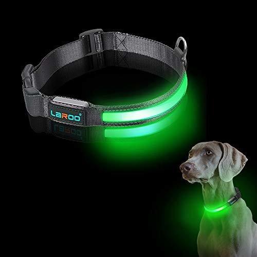 LaRoo blinkendes LED Hunde Halsband aus Nylon