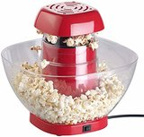 Rosenstein & Söhne Popkorn-Maker: Heißluft-Popcorn-Maschine mit Auffangschale, für 80 g Mais, 1.200 Watt (Popkornautomat)