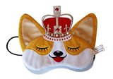 Royal Corgi Dog Plush Comfortable Sleep Eye Mask