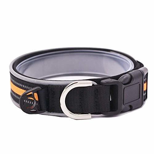 Reflektierendes & bequemes Hundehalsband, Nylon Halsbänder Verstellbar Leine Halsbänder (M)