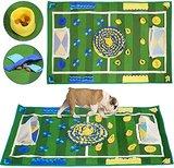 SlowTon Schnüffelteppich für Hunde, Hund Schnüffel Riechen Trainieren Intelligenzspielzeug Geruchsempfindung Trainieren Nase Arbeit Matte natürliche Futtersuche-Fähigkeiten Decke(100x65cm)
